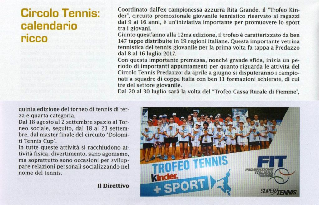 Trofeotennis It Calendario Tornei.Full Calendar For The Club Circolo Tennis Predazzo