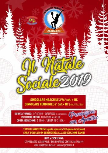 2019 - TORNEO SOCIALE - IL NATALE SOCIALE